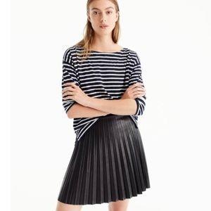 JCrew J crew faux leather mini skirt - size 10